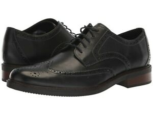 Uomo-Scarpe-Clarks-BOSTONIAN-Maxton-Wing-in-pelle-all-039-inglese-Oxford-36622-Nero