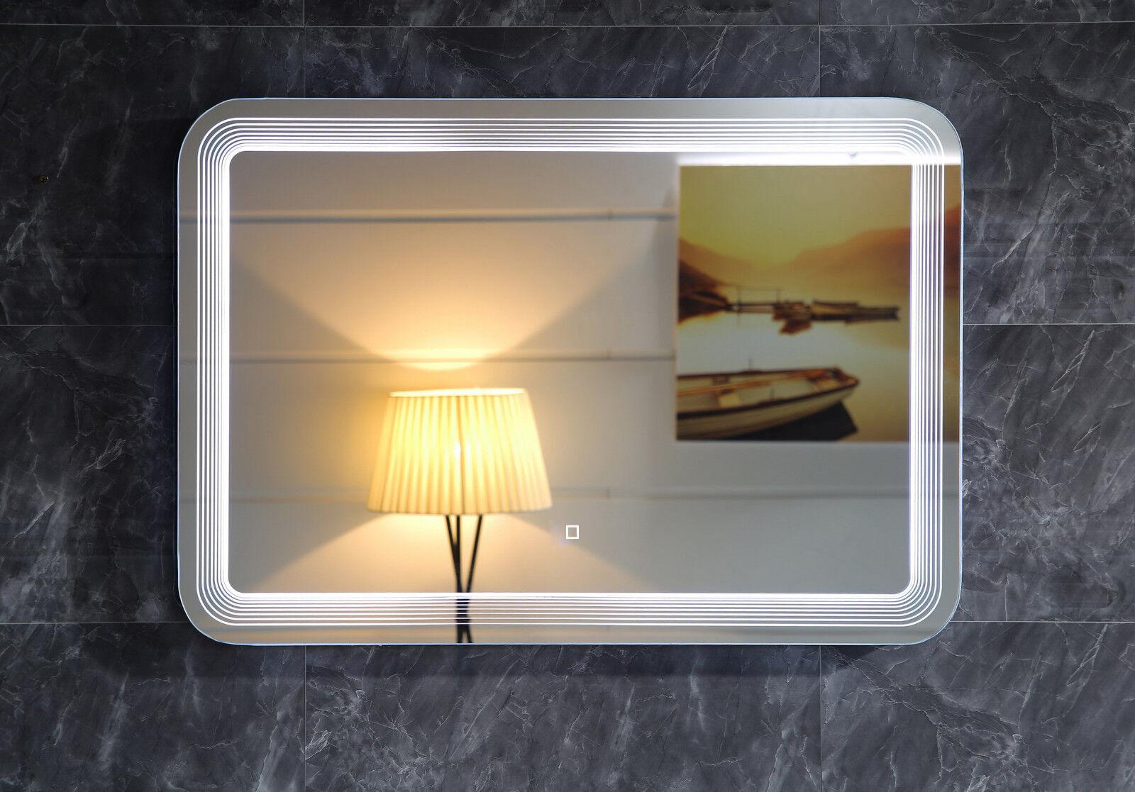 Design LED-Beleuchtung Badspiegel GS086 Lichtspiegel Wandspiegel Touch-Schalter