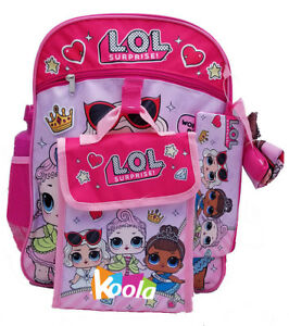 6bd864bf79 L.O.L. Surprise lol Girls School Book bag Backpack Lunch Box Set ...