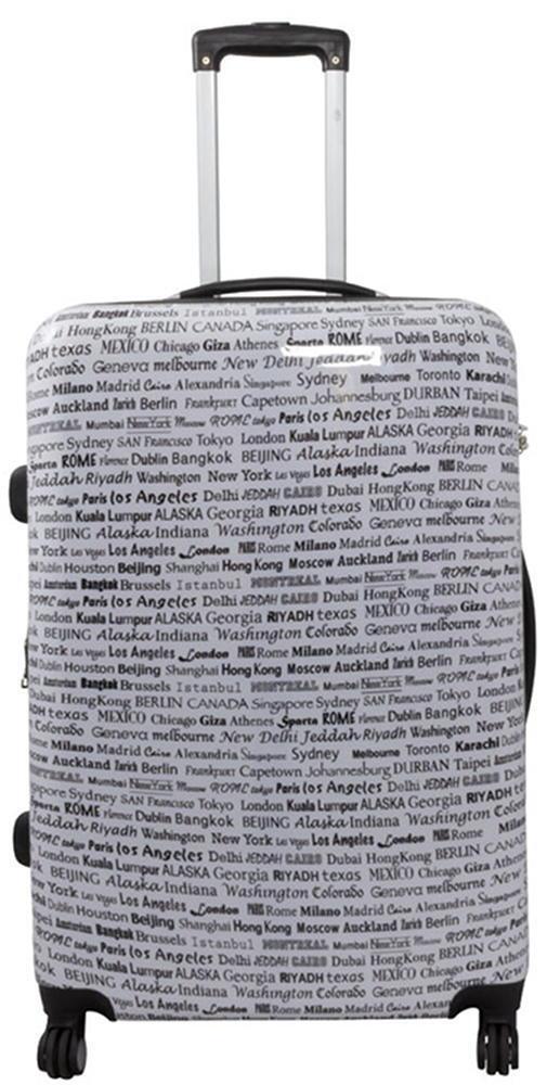 Valigia trolley carbonato rigido leggero borsa 4 ruote bagaglio a mano borsa leggero - Città 583ebc