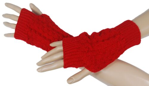 Handstulpen Handschuhe  Strick-Handstulpen Armstulpen Pulswärmer Stulpen #1701