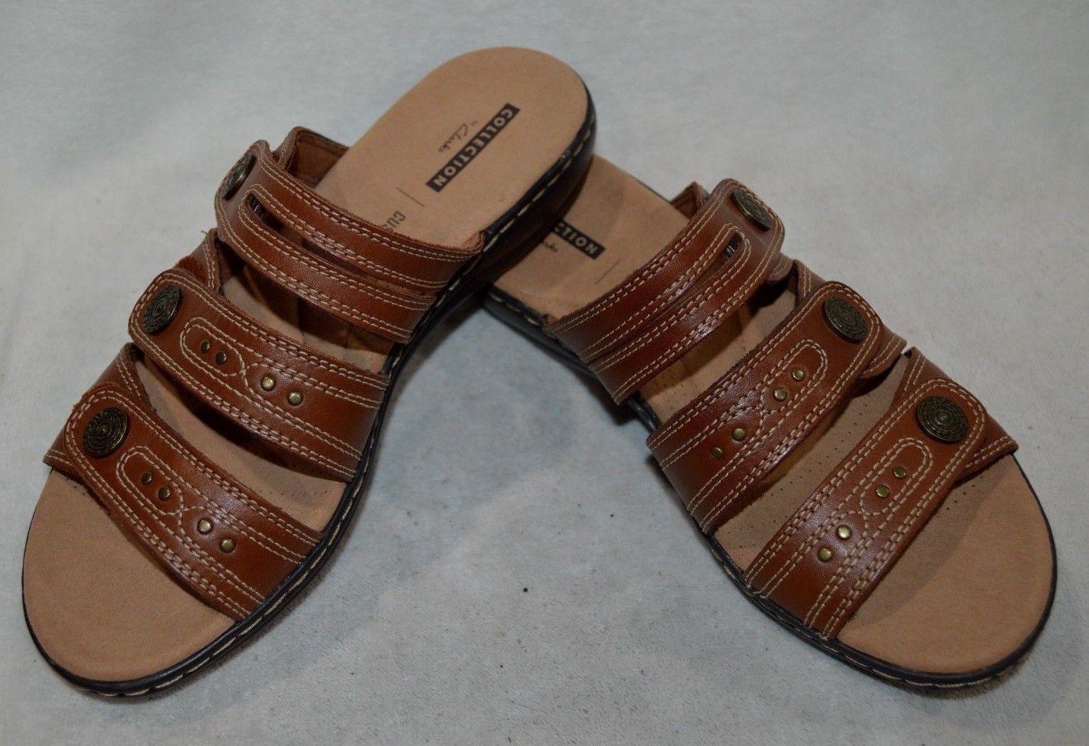 Clarks Femmes Leisa lakia Tan En Cuir Marron Sandale-Tailles 6.5 7.5 10 nwb