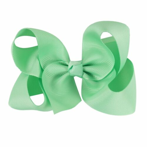 """30 Pcs//lot 4/"""" Plain Hair Bows With Clips For Kids Girls Boutique Ribbon Hair"""
