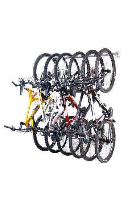 New Monkey Bars Storage 01006 6 Bike Vertical Garage Wall Mounted Bicycle  Rack