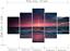 thumbnail 5 - Yatsen Bridge 5 Piece Wall Art for Living Room Red Aurora Appears in The Ocean S
