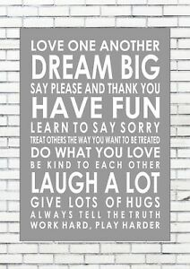 House Home Family Rules Love Word Typography Words Inspiring Quote - Inspirational words for new home