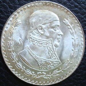 1966 Mexico $1 Peso Silver Brilliant Uncirculated.Please Se The Coin