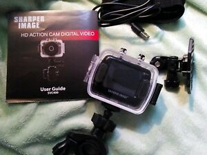 New Sharper Image Hd Action Cam Svc400 W Waterproof Case 720p 50