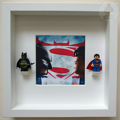LEGO Justice League DC Minifigure Display Frame Superhero Gift Present Figures