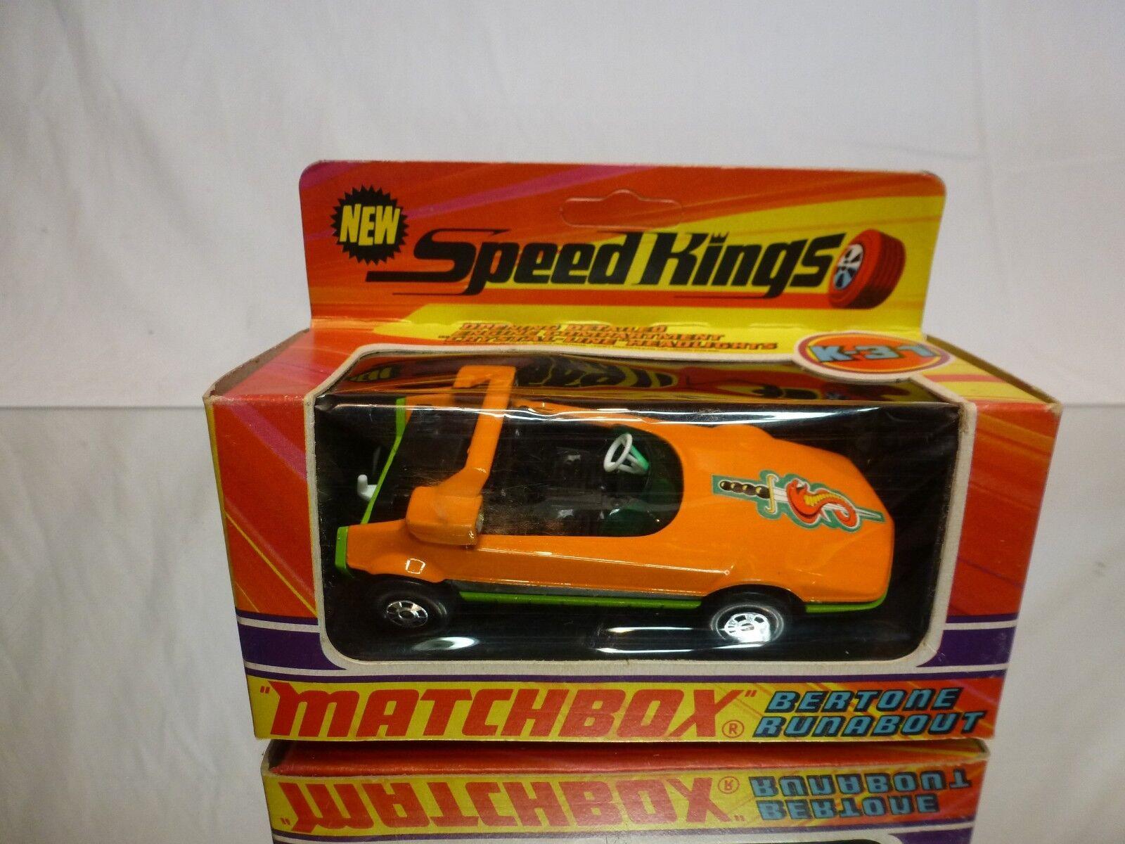 MATCHBOX K31 K-31 BERTONE RUNABOUT (predo fiat x1 9) - orange 1 43 - GOOD IN BOX