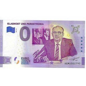 ALLEMAGNE 2021-29 GLASNOST UND PERESTROIKA BILLET SOUVENIR 0 EURO TOURISTIQUE NE