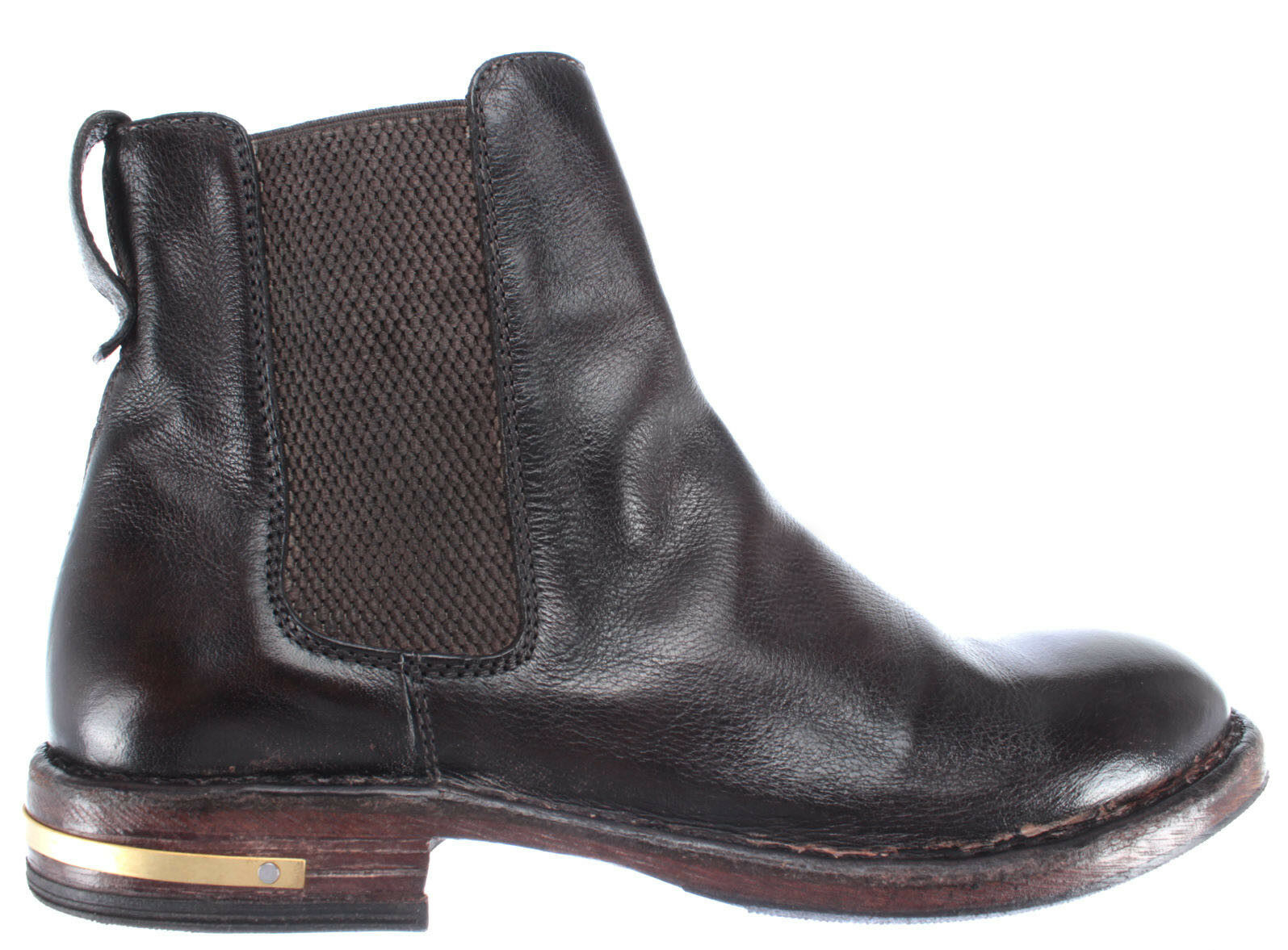 Zapatos Mujer Botines MOMA 83704-R2 Pelle Piel Marron Oscuro Vintage Made Italy