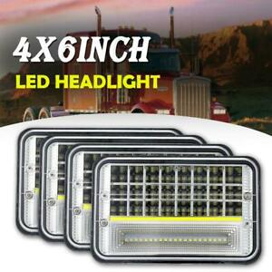 4Pcs-4x6-034-inch-45W-LED-Headlight-Sealed-Beam-w-DRL-for-Chevrolet-Truck-6x4-034-in