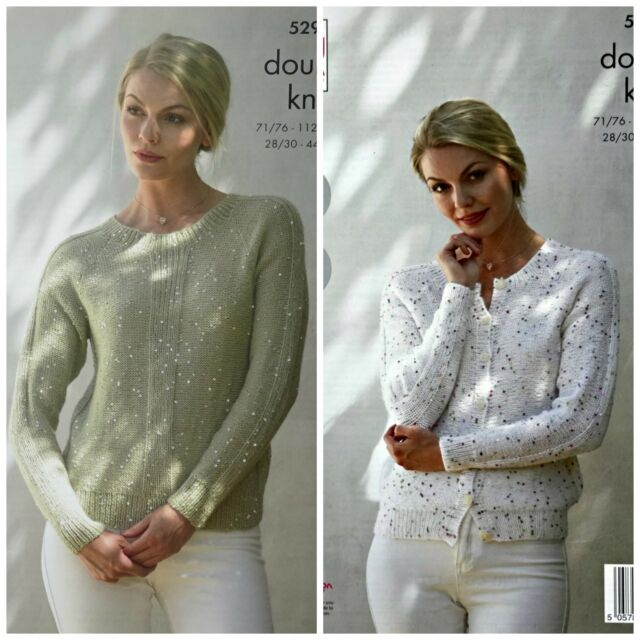 db1e56e36 KNITTING PATTERN Ladies Easy Knit Cardigan   Jumper Galaxy DK King Cole 5294