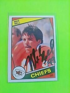 SIGNED-1984-Topps-85-Mike-Bell-Chiefs-Autograph