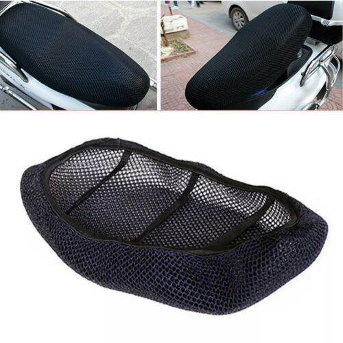 1PCS Motorcycle Scooter Black 3D Seat Cover Net Heat insulation sleeve Protector