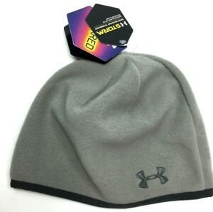 NWT Womens UA Under Armour ColdGear Storm Fleece Winter Hat Skull ... 3b9ae00b294