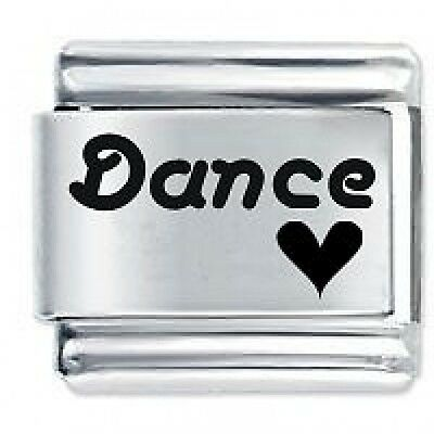 DANCE HEART - Daisy Charms Fits Genuine Nomination Classic Size Italian Charm