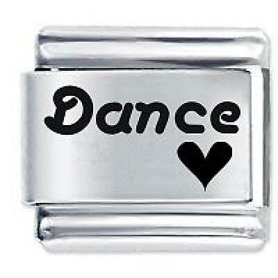 DANCE HEART - 9mm Daisy Charms by JSC Fits Classic Size Italian Charm Bracelet