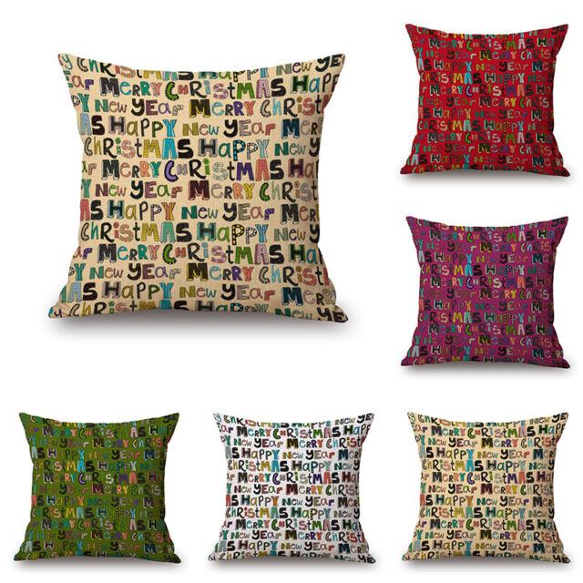 """Colorful Art Animal Cotton Linen Throw Pillow Case Cushion Cover Sofa Car 18/"""""""