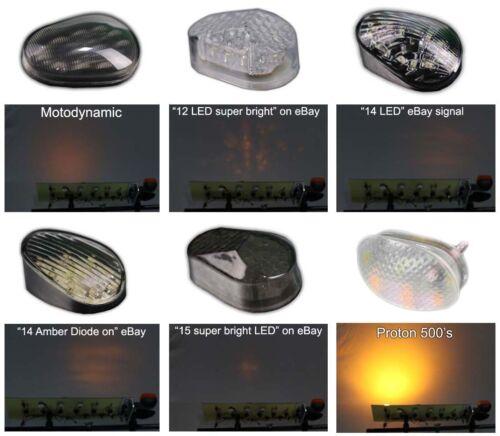 Proton 500 lumen V2 flush mount LED turn signals blinkers for 2013 Yamaha FZ-07