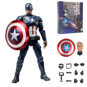 Marvel-Avengers-Civil-War-S-H-Figuarts-Captain-America-Action-Figure-Toys-Gifts