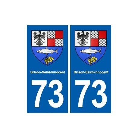 73 Brison-Saint-Innocent blason autocollant plaque immatriculation ville arrondi