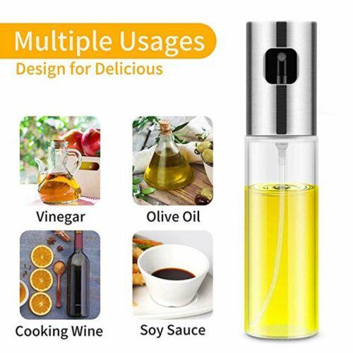 Kitchen Spray Bottle Food Grade Oil Pot Barbecue Cruet Home Soy Sauce Glass h@