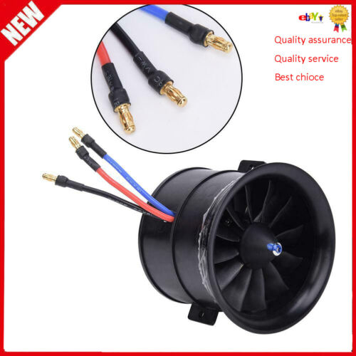 EDF 70mm 12-Blade Fan Propeller with Starting Motor forRC Model Aircraft Access