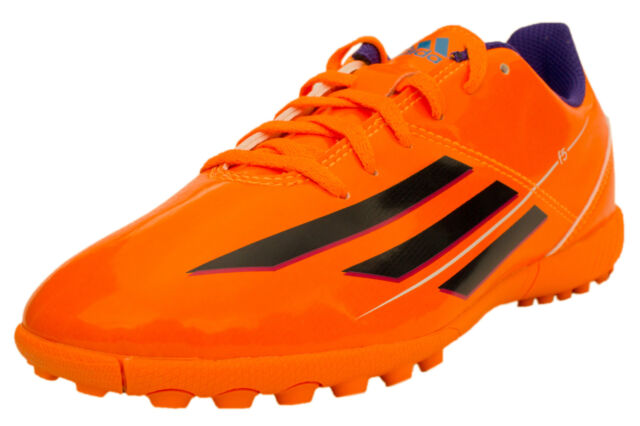 e21256b936e4 Boys Adidas F5 TRX Orange Football Astro Turf Trainers Boots Shoes New Boxed