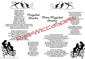 2pg-lot-Magickal-Chants-for-Wicca-Book-of-Shadows-Pagan-Occult-Spells