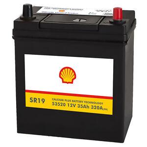 shell sr19 asia autobatterie 12v 35ah starterbatterie plus