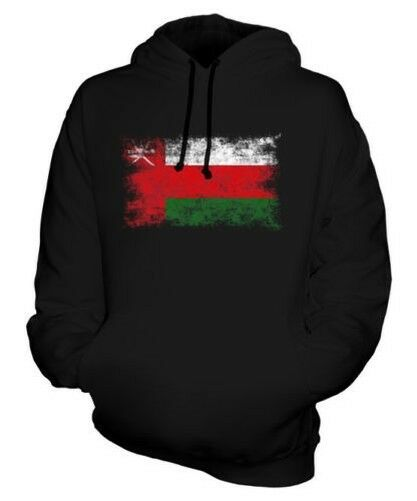 Oman Distressed Flagge Unisex Kapuzenpulli Top Uman Fußball Omani Geschenk