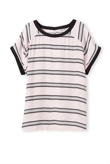 Country road WOMAN PRINTED STRIPE SHELL TOP