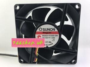 1X For SUNON ME80251VX-0000<wbr/>-G99 Cooling fan 12V 1.9W 80*25mm 3pin
