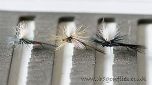 12-18 12  GREY DUSTER  Dry Fly fishing Flies 3 each by Dragonflies