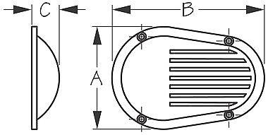 "367487 Sea-Dog Line Bronze Scoop Strainer 8-3//16/"" Inch x 5-5//16/"" Inch 132-3791"