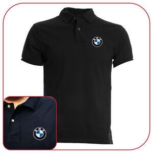 POLO-T-SHIRT-BLACK-RICAMO-EMBROIDERY-PATCH-BMW-LOGO