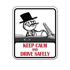 """Keep Calm And Drive Safely car bumper sticker decal 5"""" x 4"""""""
