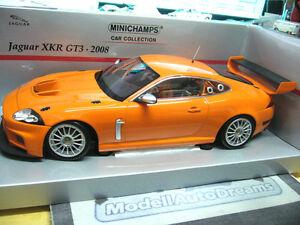 JAGUAR-XKR-gt3-2008-FIA-GT-RACING-Plainbody-Orange-PMA-MINICHAMPS-1-18