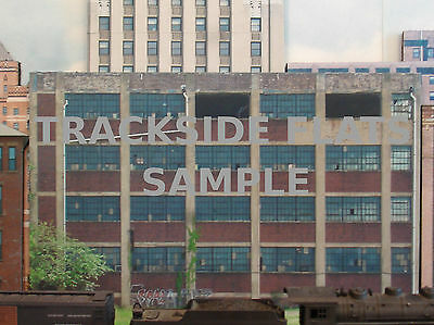 #200 N scale background building flat  ABANDONED FACTORY #1  *FREE SHIPPING*