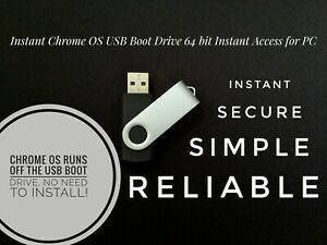 Details about Instant Chrome OS 8GB USB Boot Drive 64 Bit Boot off any  computer via USB Start