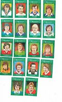 Set of 18 Cornish Match Co matchbox labels Jay Dees depicting Footballers Ac50.