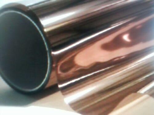 BRONZE REFLECTIVE PROLINE WINDOW FILM PRIVACY DECORATIVE COLOR GLASS TINT