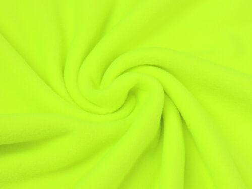 Fleece Stoff Antipilling Meterware kuschlig weich Neongelb EUR 4,97//m