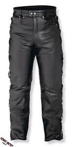 Pantalon-Cuir-Lacets-Moto-Motard-Chopper-Touring-Modele-5-Poches-Jeans