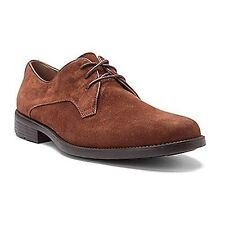Hush Puppies HACKMAN Mens Red Brown Suede Lace Up Oxford Shoes Size 13 M