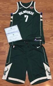b11165509 Thon Maker Milwaukee Bucks Game Used Worn Playoff Jersey Uniform ...