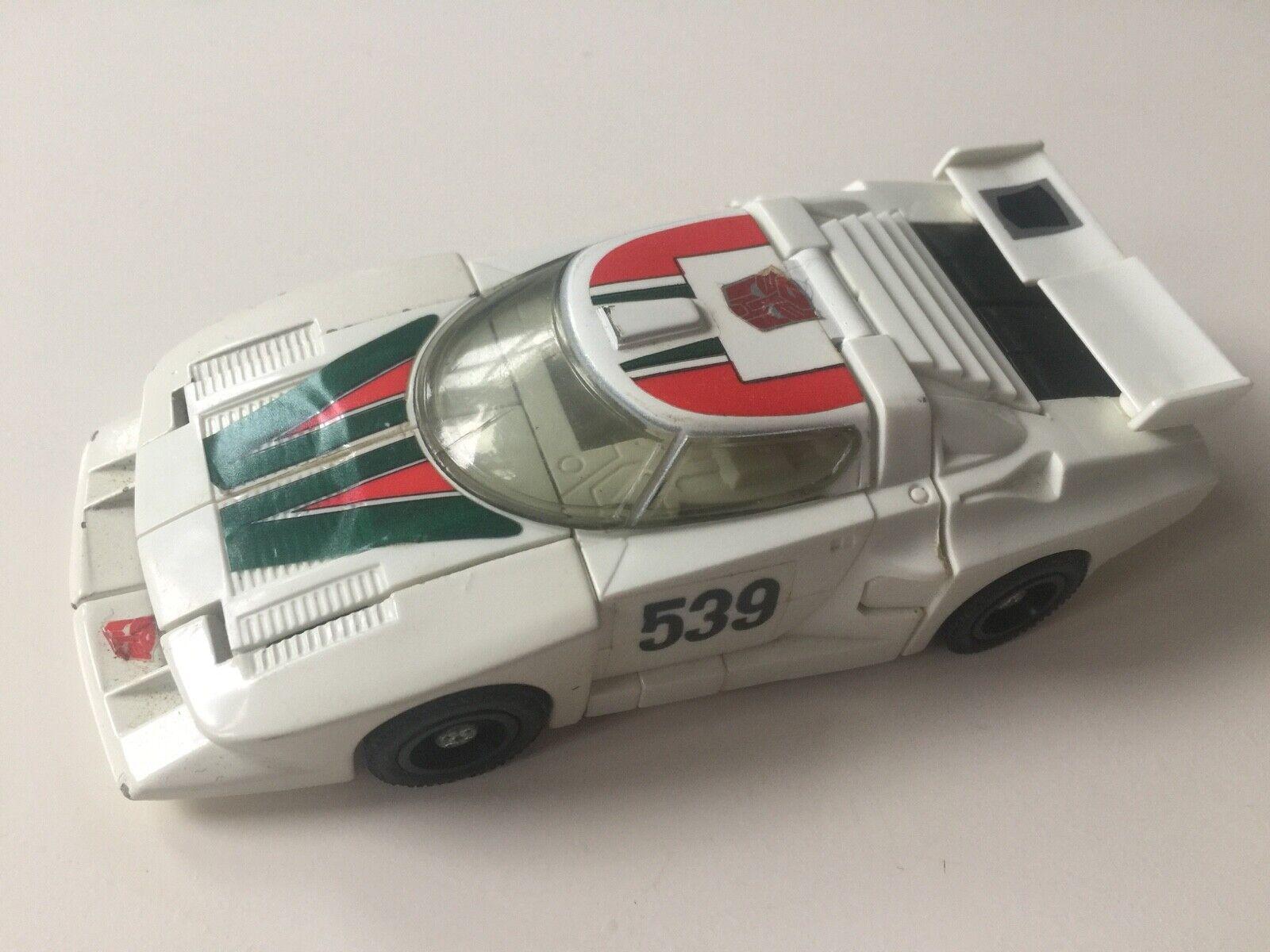 Transformers G1 1985 WHEELJACK figure + spoiler set Weiß hasbro takara