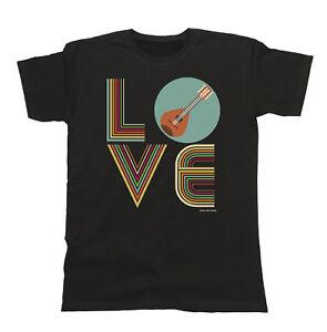 Mens-Womens-T-Shirt-LOVE-MANDOLIN-Retro-Music-Lute-Pick-Festival-Tee